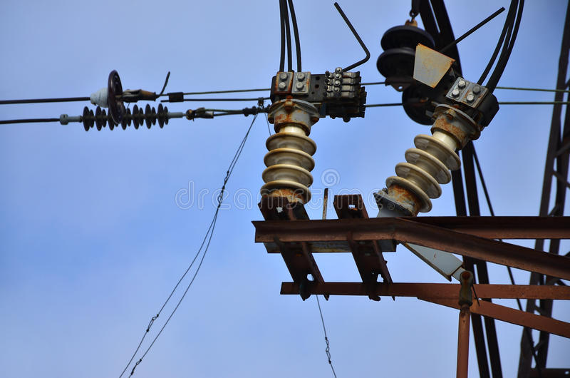 Some details from a high voltage post royalty free stock image