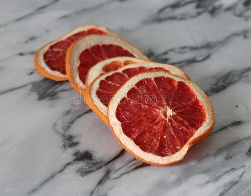 Some dried grapefruit royalty free stock image