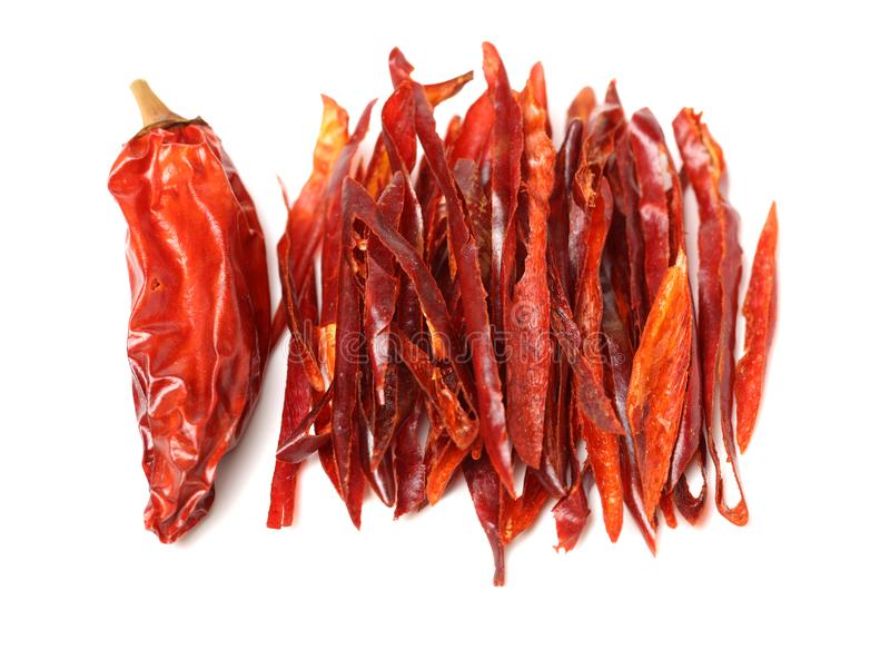 Some dried red Chili Peppers royalty free stock photo