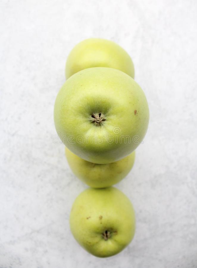 Some fresh green apples royalty free stock photo