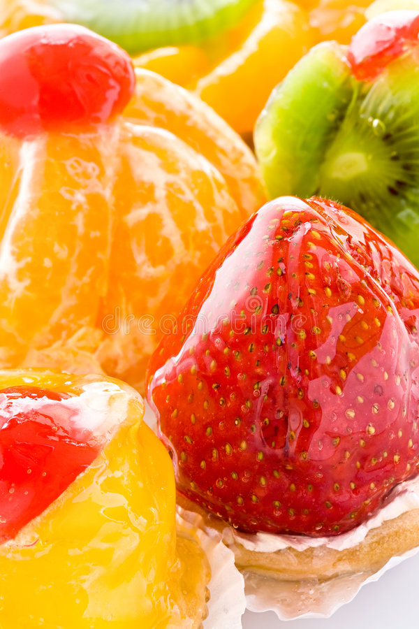 Some fruit cakes royalty free stock images