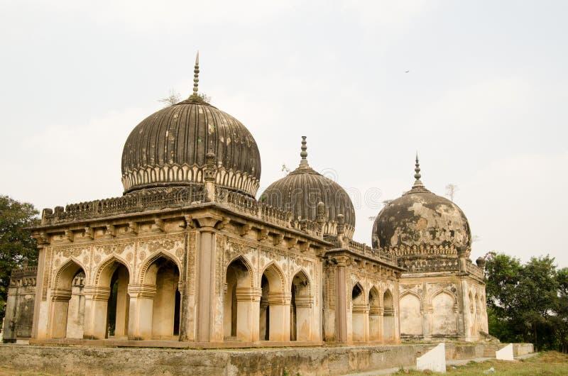 Qutub Shahi Tombs, Hyderabad. Some of the historic Qutub Shahi Tombs built during the Mughal Empire in Golconda, Hyderabad, Andhra Pradesh stock image