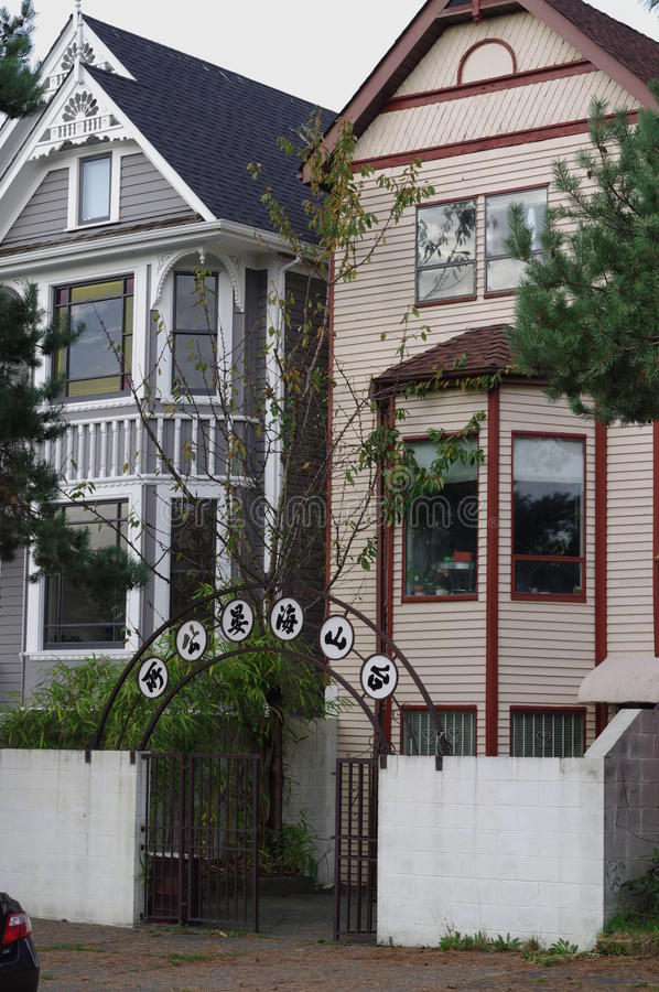 Some of the housing in Vancouver's Strathcona stock images