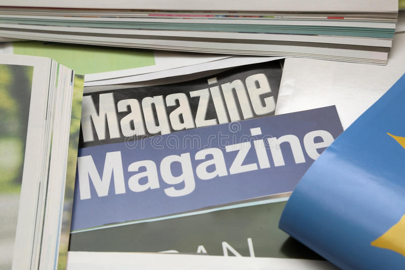 Some new magazines background. A some new magazines background royalty free stock photography