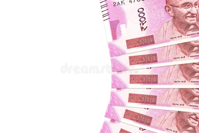 Some new 2000 indian rupee bank notes stock photo