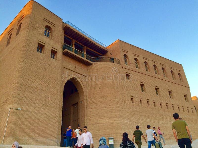 Erbil citadel royalty free stock photo