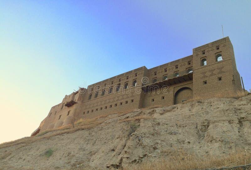 Erbil citadel stock image