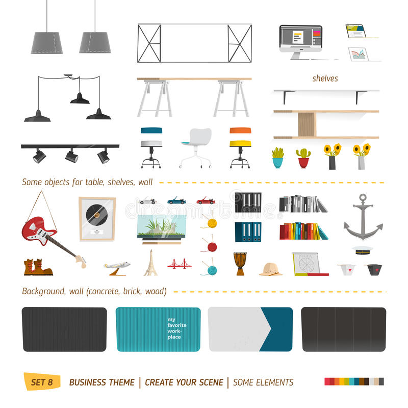 Some office furniture royalty free illustration