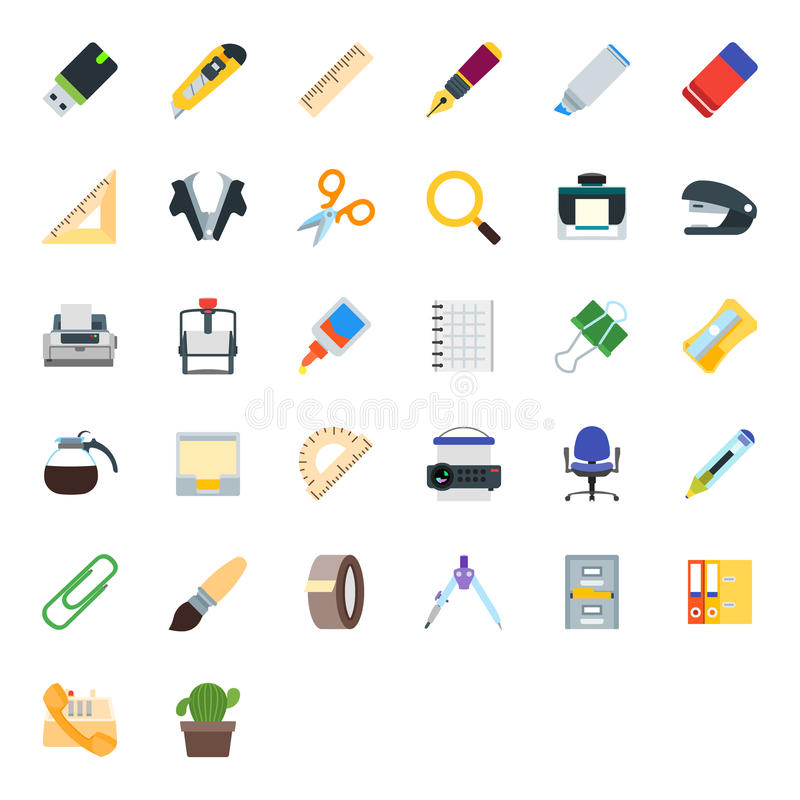 Some Office paraphernalia royalty free stock images