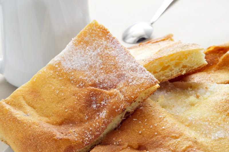 Download Coca Amb Sucre, Typical Catalan Cake Stock Image - Image of pastry, horizontal: 30042923