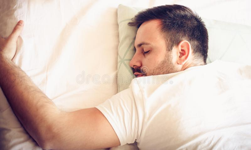 Some rest after a hard day`s work. stock photography