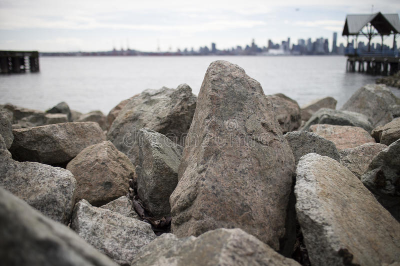 Rock formations on north vancouver beach. Some rock formations on north vancouver beach stock image