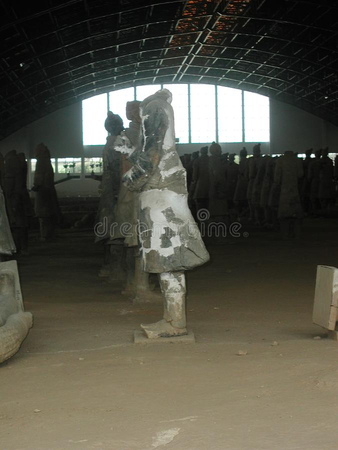 The Terracotta Army in China royalty free stock photography