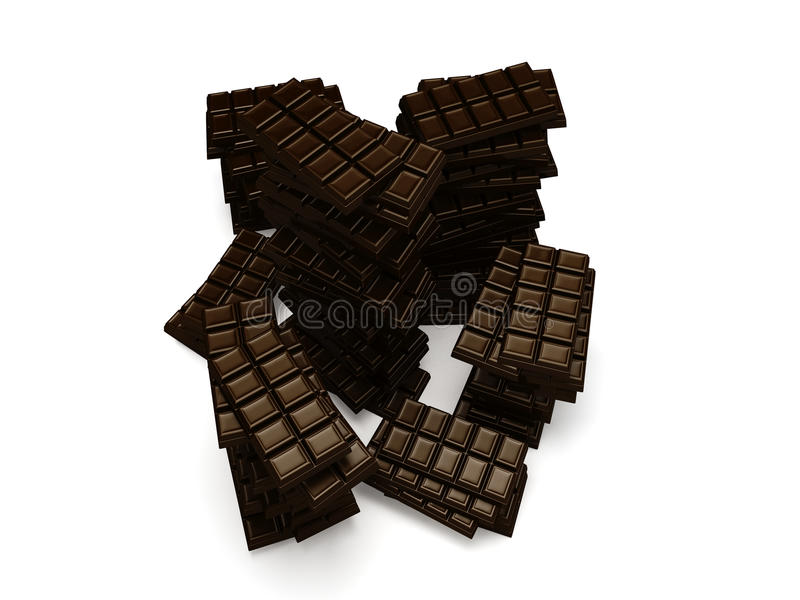 Download Some Stacks Of Many Chocolate Bars Stock Illustration - Image: 23967195