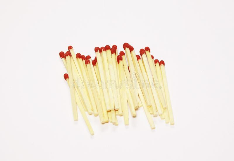 Some stick fires to use in many ways and places. Some stick matches to use everywhere and in special moments royalty free stock photos