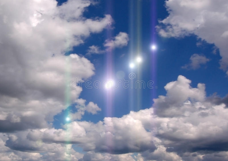 Some UFO in the sky royalty free stock photos