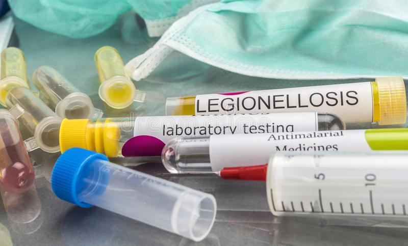 Some Vials With Samples Of Contagious Diseases In A Clinical Laboratory. Conceptual image royalty free stock image
