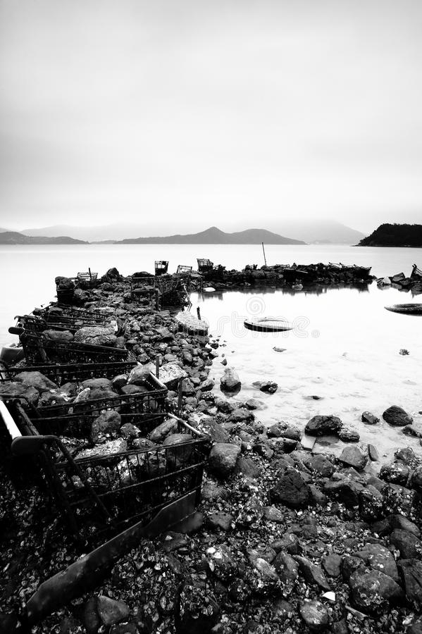Download Some Wasted Stuffs At The Coastline Stock Photo - Image: 13255216