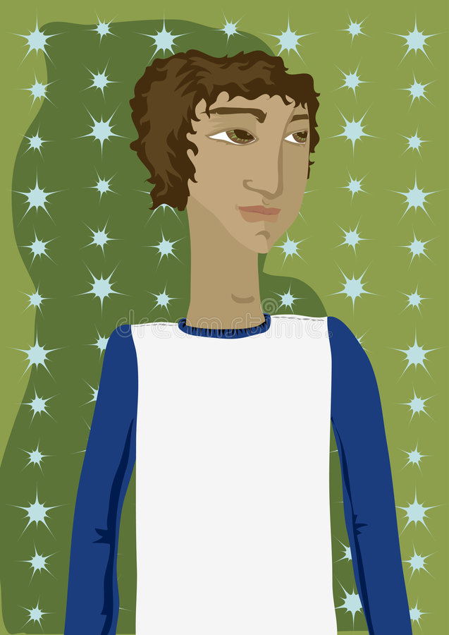 Download Some Young Guy stock illustration. Image of star, starburst - 826378