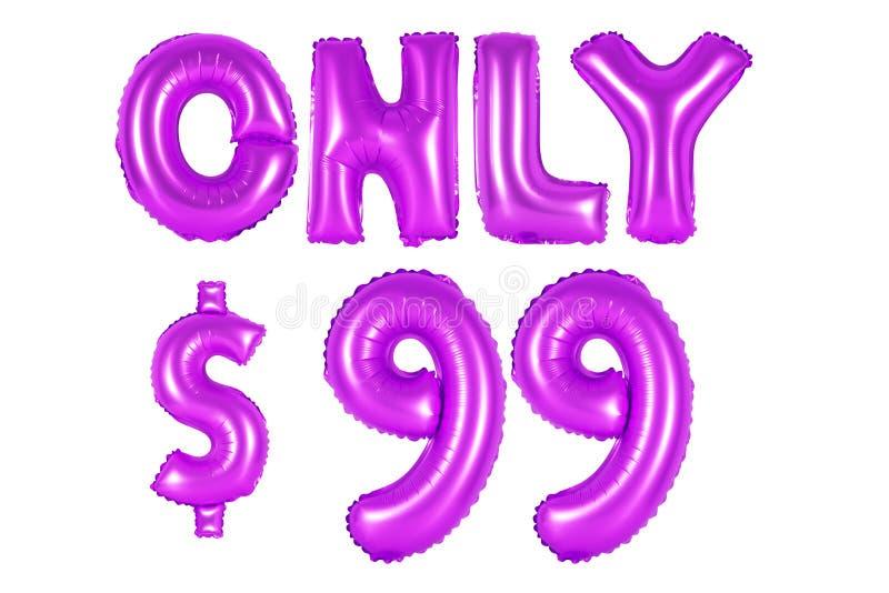 Somente dólares da noventa-nove, cor roxa fotografia de stock royalty free
