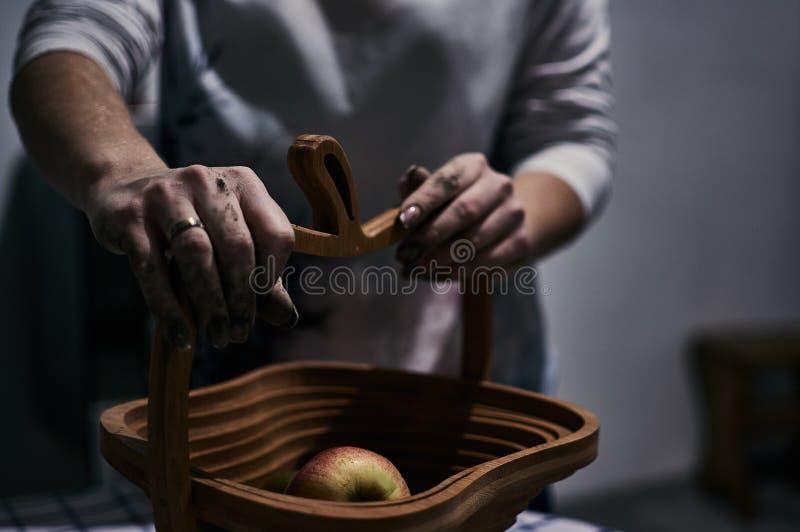 Somente mãos fotografia de stock