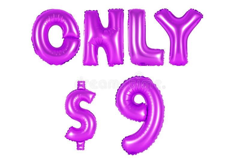 Somente nove dólares, cor roxa imagens de stock
