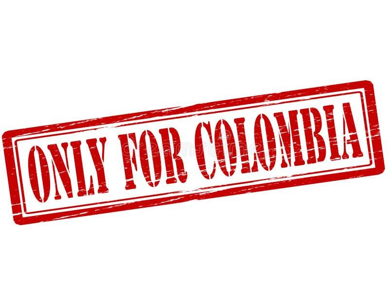 Somente para Colômbia ilustração royalty free