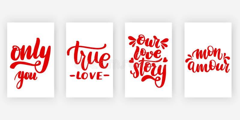 Somente você Amor verdadeiro nosso ilustração stock