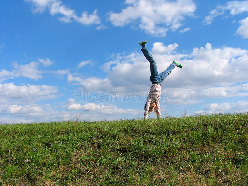 Somersault stock images