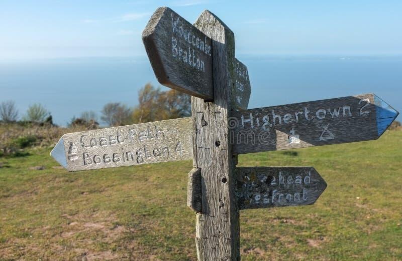 Download Somerset Coastal Path Sign stock photo. Image of coastal - 30974470