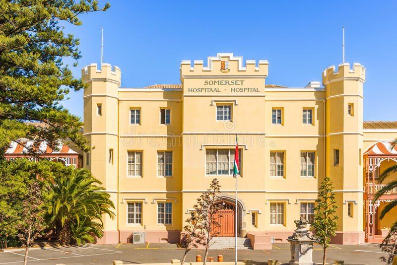 Somerset Hospital dans la région verte de point de Cape Town, Sout photographie stock