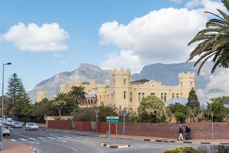 Somerset Hospital historique au point vert à Cape Town image libre de droits
