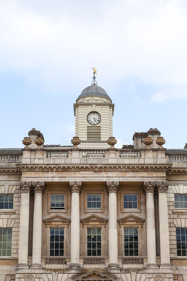 Somerset House de construção neoclássico no jardim de Covent do distrito, Londres, Reino Unido imagens de stock