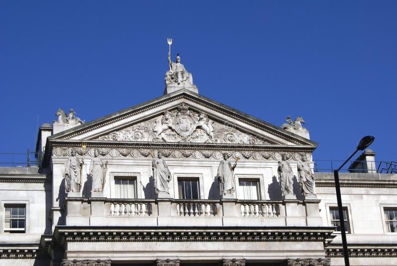 Somerset House detaljer i London, England royaltyfria foton