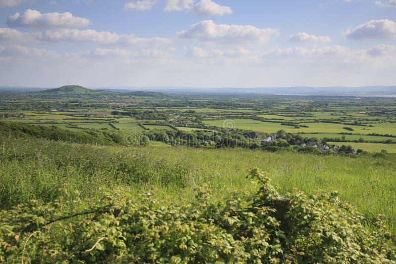 Somerset krajobrazu widok obrazy royalty free