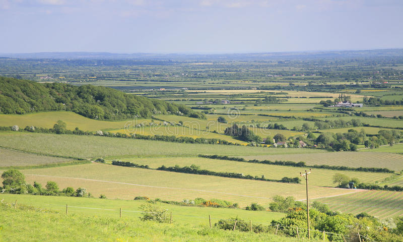 Somerset landscape view stock photos