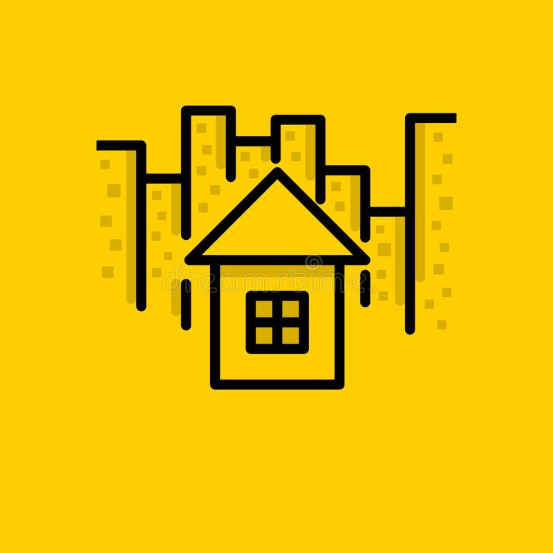 City, Home, House, icon. Something like City, Home, House, icon stock illustration