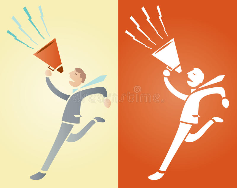 Download Something to shout about stock vector. Image of media - 15532632