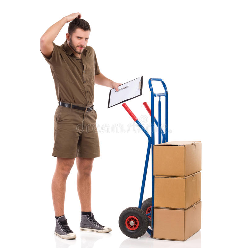 Something Went Wrong With Delivery stock image