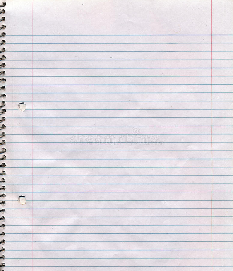 Spiral Bound Notebook Page Background Stock Photos