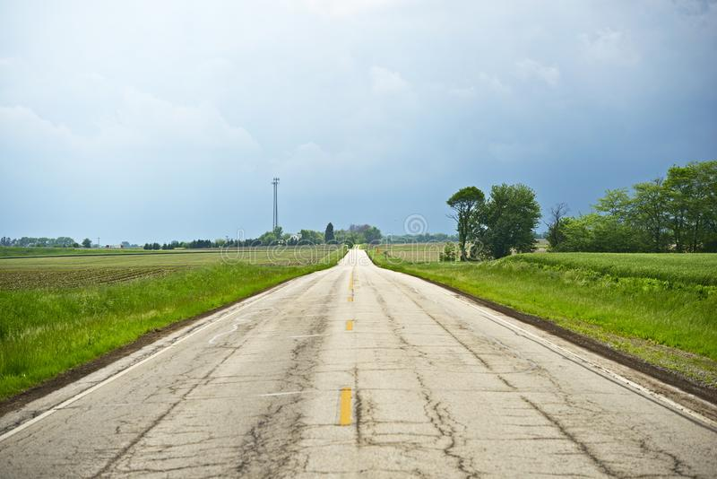 Download Somewhere in Illinois stock image. Image of lane, driving - 31978893