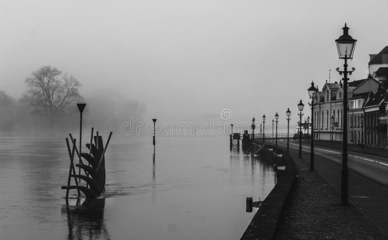 Somewhere in the mist royalty free stock photo
