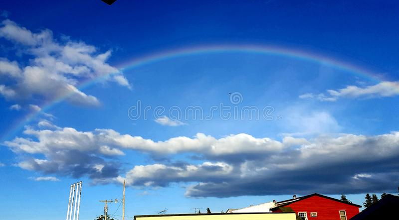 Somewhere over the Rainbow in Milltown, Wisconsin royalty free stock photo