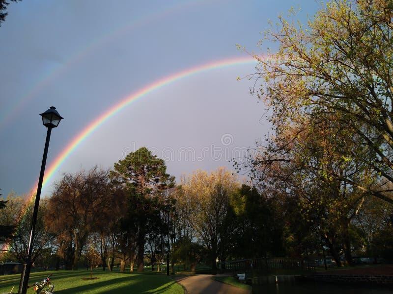 Somewhere over the rainbow stock image