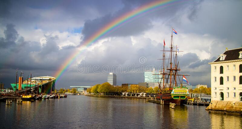 Somewhere over the rainbow... royalty free stock image