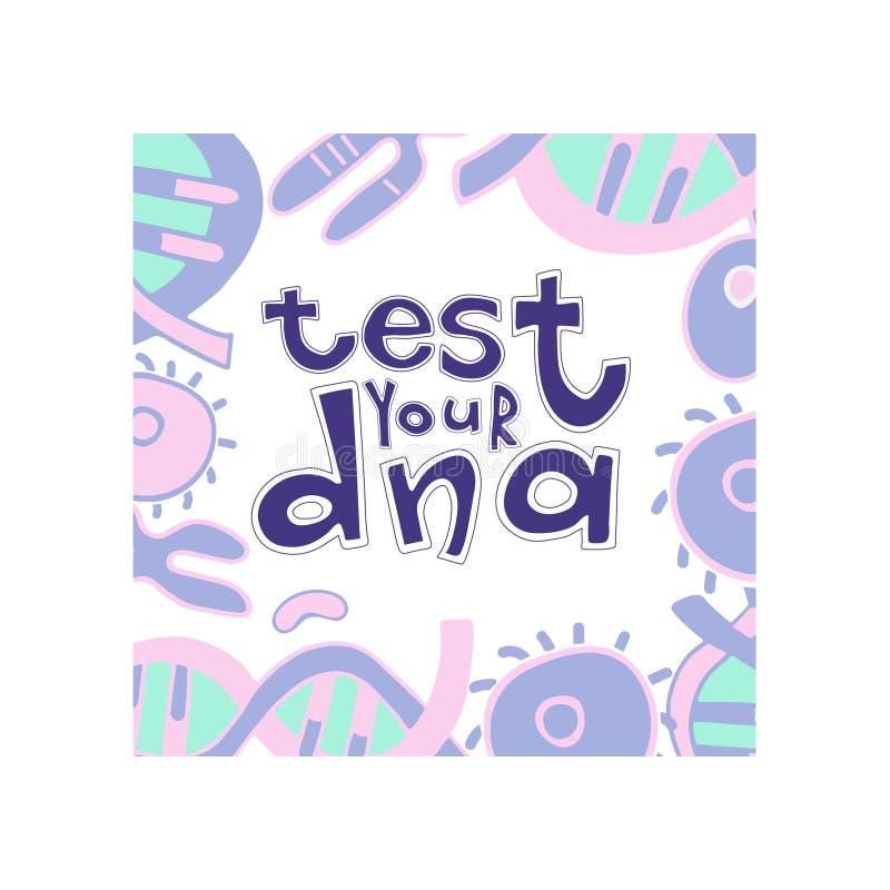Somil de la DNA ilustración del vector