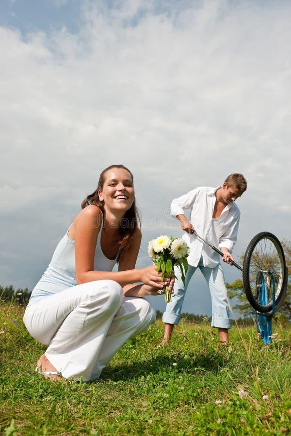 sommar för parängromantiker royaltyfri bild
