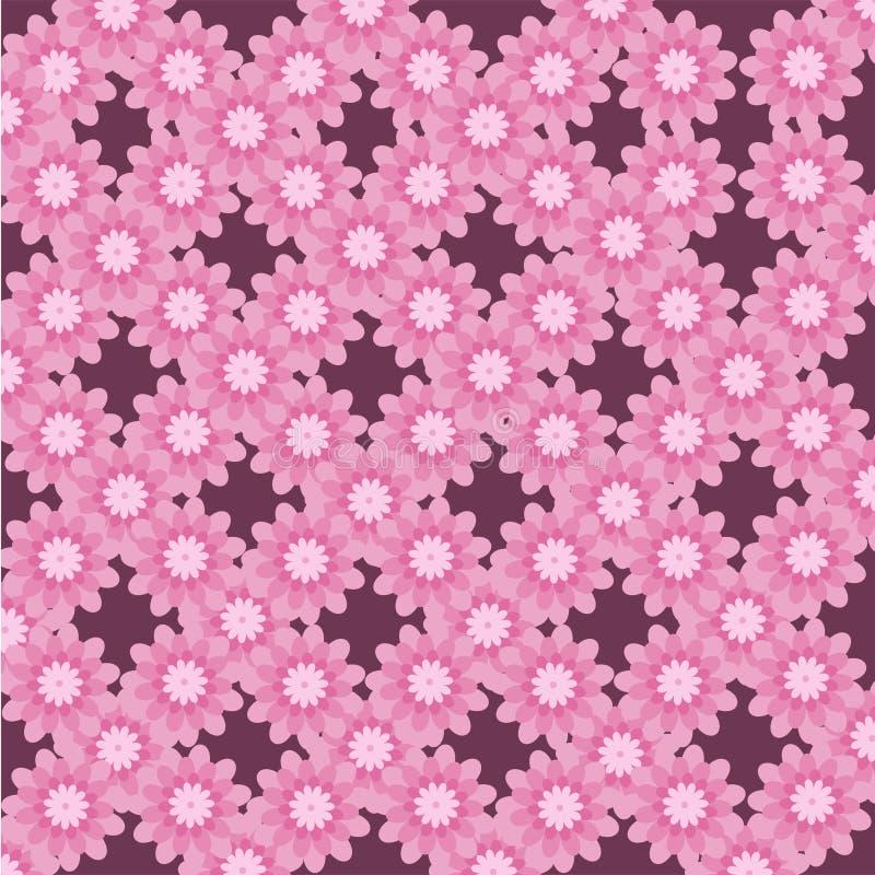 Sommar för skönhet för abstrakt modellblomma sömlös rosa vektor illustrationer