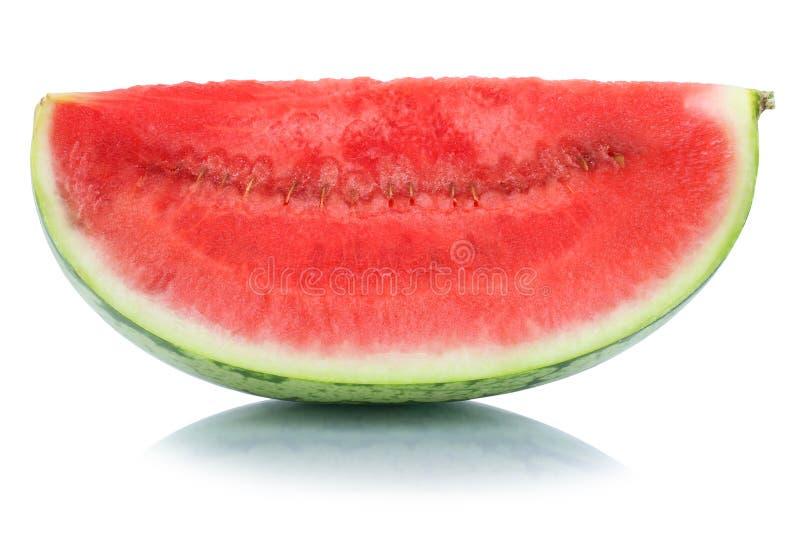 Sommar för vattenmelonskivafrukt som isoleras på vit arkivfoto