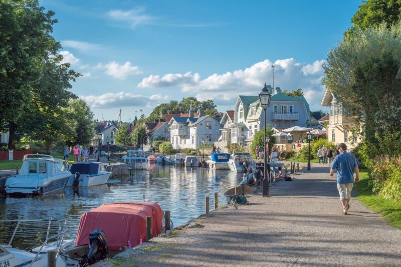Sommar i Trosa, Sverige royaltyfria bilder